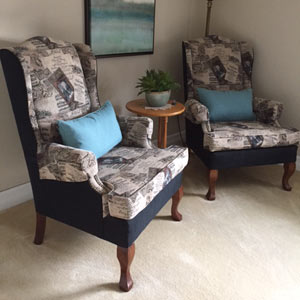 Chairs in living space